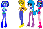 Echo and the 3 Female Trappable Villains by SuperMarioMaster170