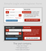 Simple login and registration form by MsT4GFX