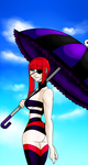 Summer Fashion: Goth at the beach! by OH-I-KNOW-HER
