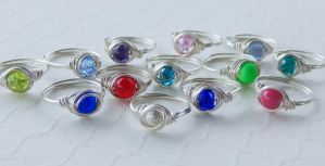 wire wrapped solitaires by faranway