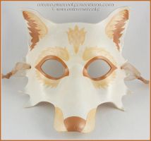 Golden Wolf Full Mask by EirewolfCreations