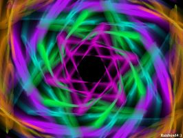 Neon Swirl by MysteriousAmulet