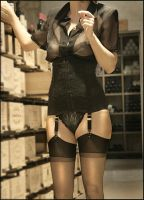 waist chincher2 and nylons by Nylony-pl