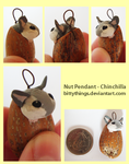 Nut Pendant - Chinchilla by Bittythings