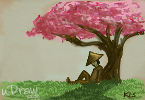 uDraw Cherry Blossom Tree by darkpriestss