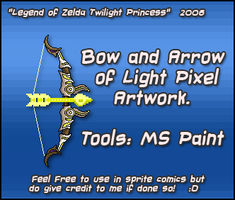 Bow and Arrow of Light Pixel by Shadow-Dinosaur