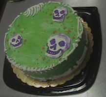 Skull Cake by Starjuice