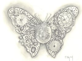 Steampunk butterfly by Mymy-La-Patate