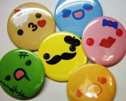 My kawaii face buttons by tBRWD by brannflakes101