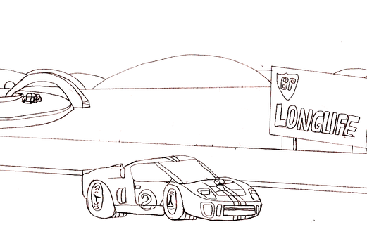 '66 Ford GT40 MKII sketch by TheEvstar