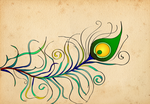 Peacock Feather Wallpaper by dropdeadchewy