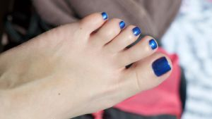 Candid Close Up in Blue by Feetatjoes