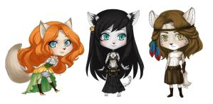 Chibi Commission for GypsyCorset by Sessie