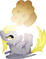 Kiriban : Derpy and the giant MUFFIN by MimiPony