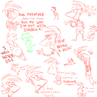 phineas doodles by Kylepus