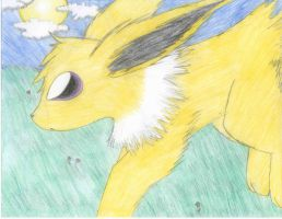 Jolteon Over Midnight Meadow by Wolfie-Forever