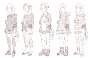 Outfits for human Evie by BloodlineV