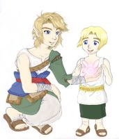 Link and Colin by Vergessene by SailorPluto-the-Pyro