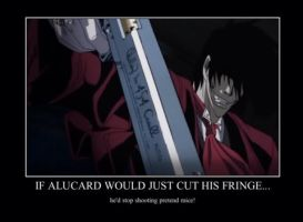 Alucards fringe is too long.. by alucardserasfangirl