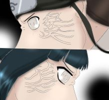 Neji vs Hinata colab by Dark-Desert-Rose