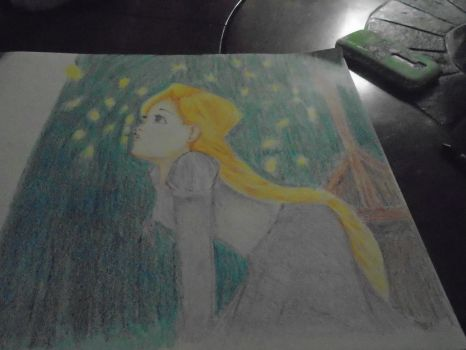 Crayola Crayon Drawing Rupunzel (With Video by Adelabats