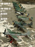 Reichsverteidigung _ FW 190D9 D13 and TA-152C/H by DingoPatagonico