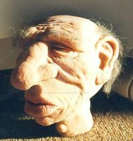 Old man puppet by Dave Britton by BrittonsConcoctions