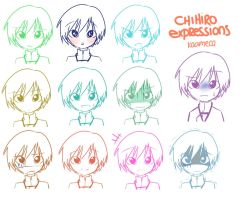 HM: Chihiro Expressions by kaameca