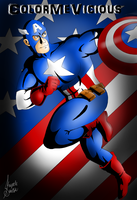 Captain America by ColorMeVicious