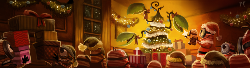 Candy Cane Minions by Cryptid-Creations