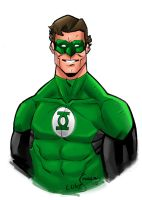 Green Lantern Sketch by lukesparrow