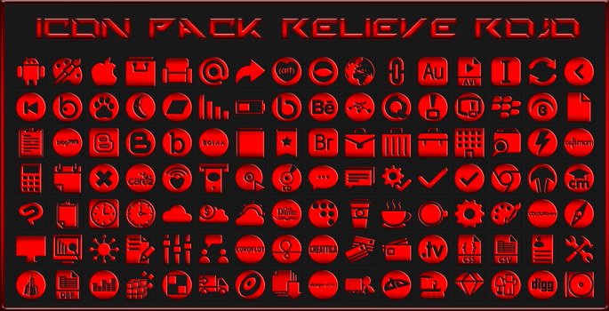 IconPack Relieve Rojo by Agelyk