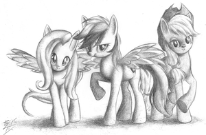 Shy, Dash and Jack by RouletteObsidian
