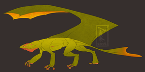 Auction #24 Gecko Dragon [closed] by Aivomata