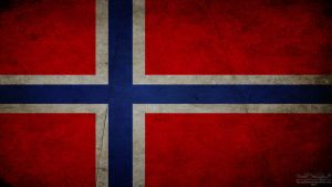 Norwegian grunge flag by The-proffesional