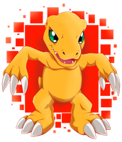 S1 Agumon by SarahRichford