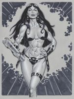 Big Barda commish by MichaelDooney