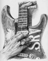 Stevie Ray Vaughn Hands by OhioArt2