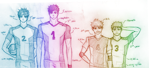 Volley Dudes by glorypaintGR