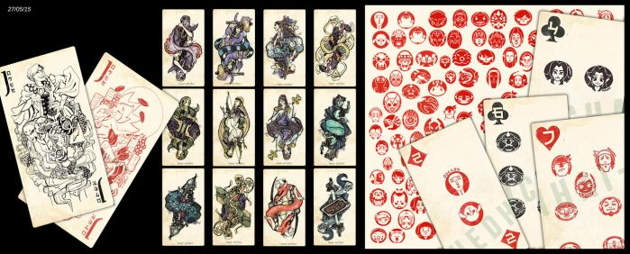 Playing card Zelda research: Japan style by Hedhaichaihai-Shiku