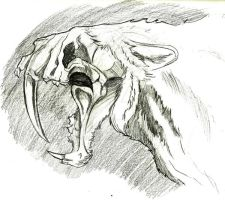 1-28-13 Sketch of the day! Sabretooth by IronLion82