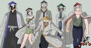 Naruto OC: 6 Kage Summit by Rudolftheclown