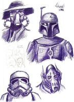 Page o' Star Wars Villains by Fellhauer