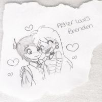 Chibi Ash with Bden by AsherDemonSlayer