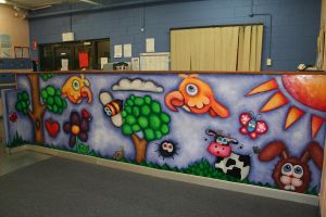 childcare center mural by Yocheved