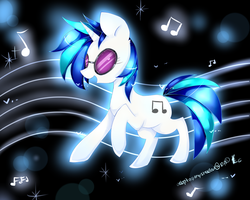 Vinyl scratch by AquaGalaxy