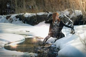 Nightingale, Elder Scrolls 5 Skyrim Cosplay by vikkiievoltage