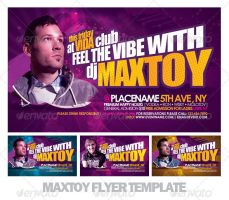 Maxtoy Dance Flyer Template by EAMejia