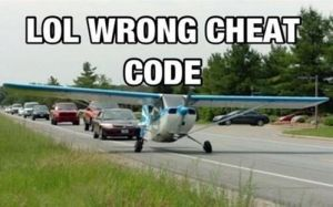 Wrong cheat code by boeingboeing2