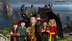 For AvannaK: Hiccup's Family by acorntree144